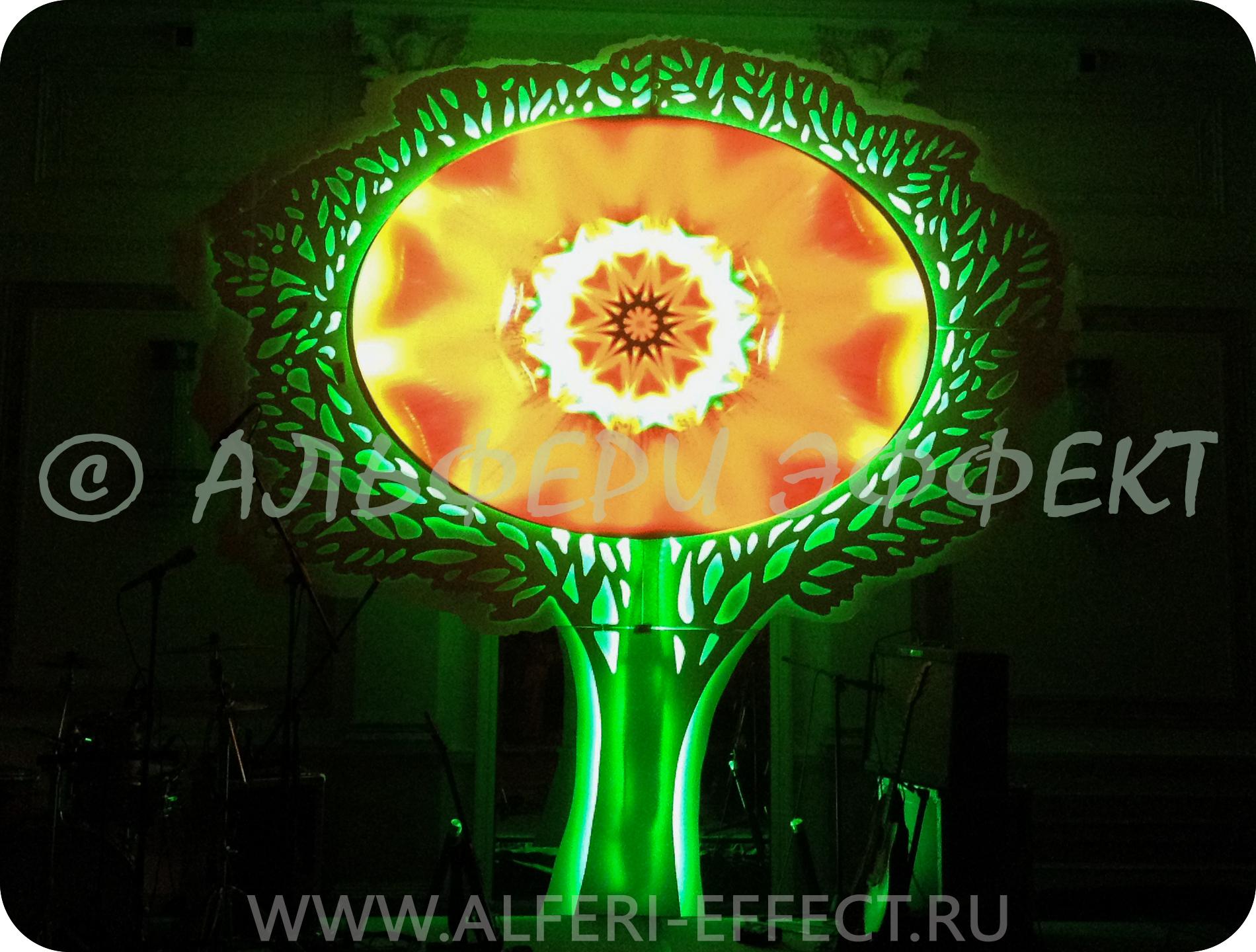 Проекционный экран дерево от Альфери Эффект