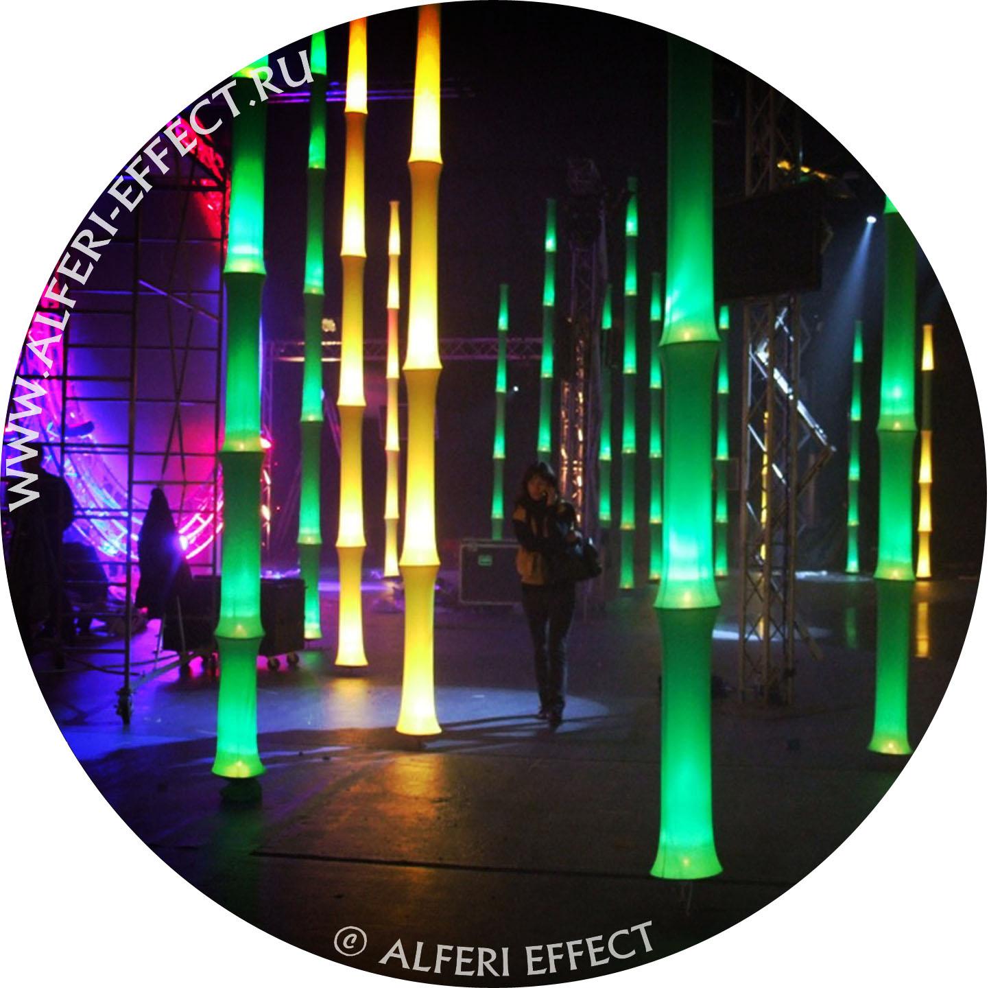 Световые инсталляции от Альфери Эффект