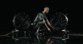 Мощный ветродуй от Альфери Эффект - съемки клипа Иван Дорн