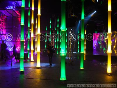 Светящиеся Бамбуки - световая инсталляция от Альфери Эффект