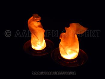 Чаша с имитацией пламени от Альфери Эффект (реалистичное пламя)