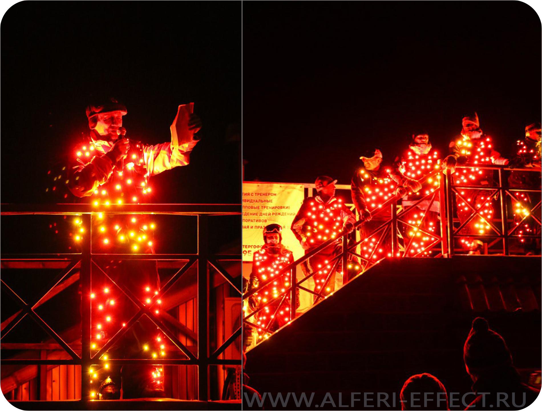 Светодиодный костюм Light men