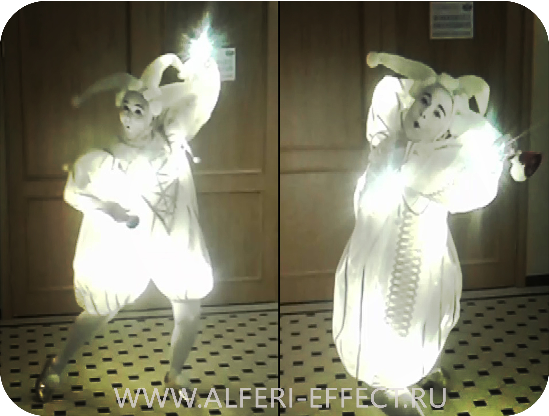 Подсветка костюма клоуна - для шоу Олега Попова